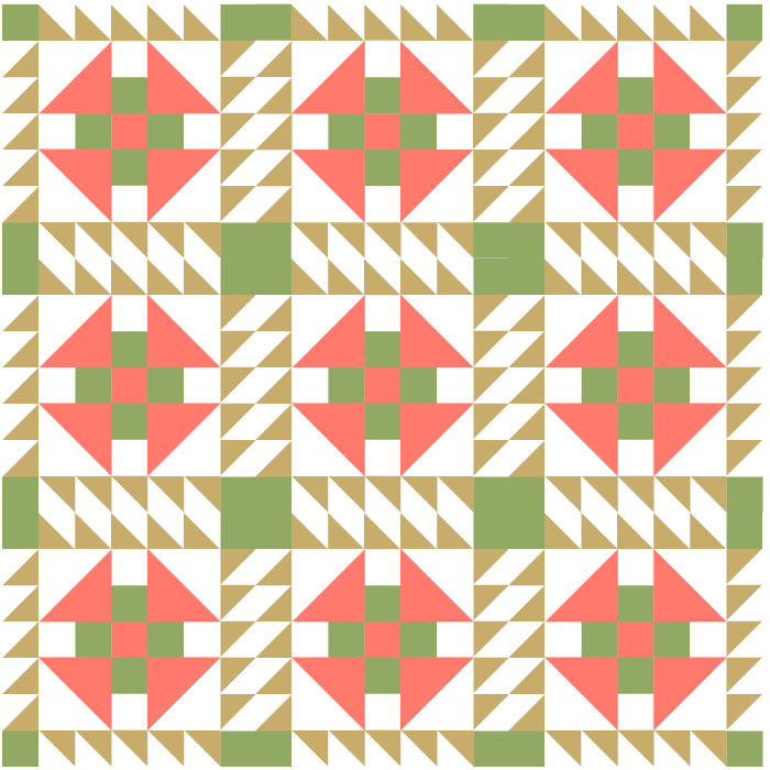 illustration of a quilt made with prickly pear quilt blocks