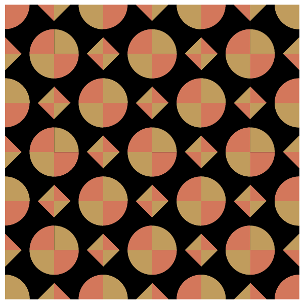 illustration of a quilt made with pullman puzzle quilt blocks