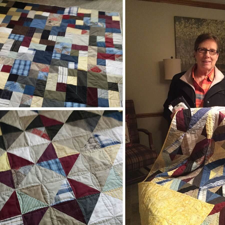 Custom Quilts made from men's shirts