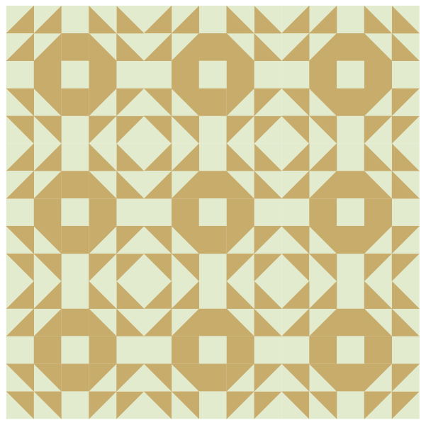 Grouping Example of the Single Wedding Ring Quilt block