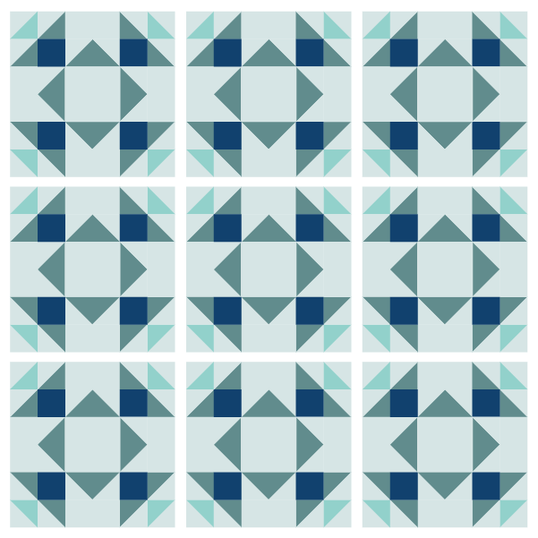 Grouping example of the Summer Winds Quilt Block