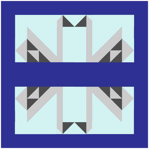 Grouping illustration of swan quilt blocks
