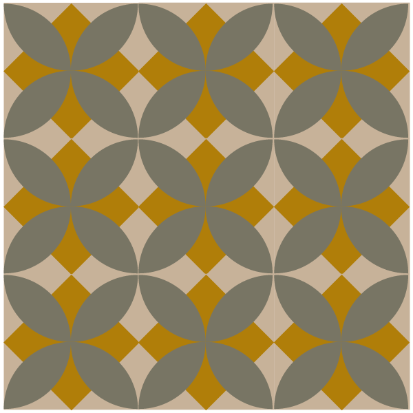Grouping of tobacco leaf quilt blocks in straight rows