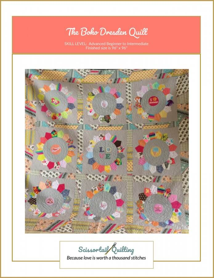 Photo of Cover for Boho Dresden Quilt Pattern