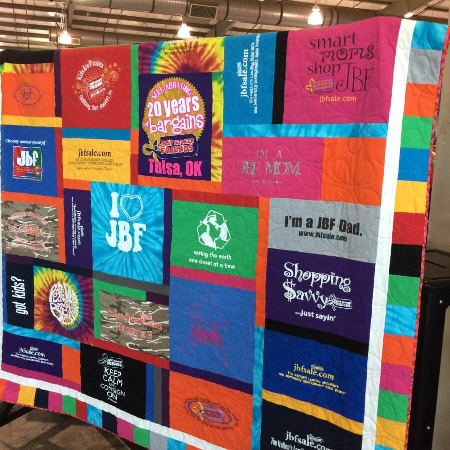 Puzzle style t-shirt quilt