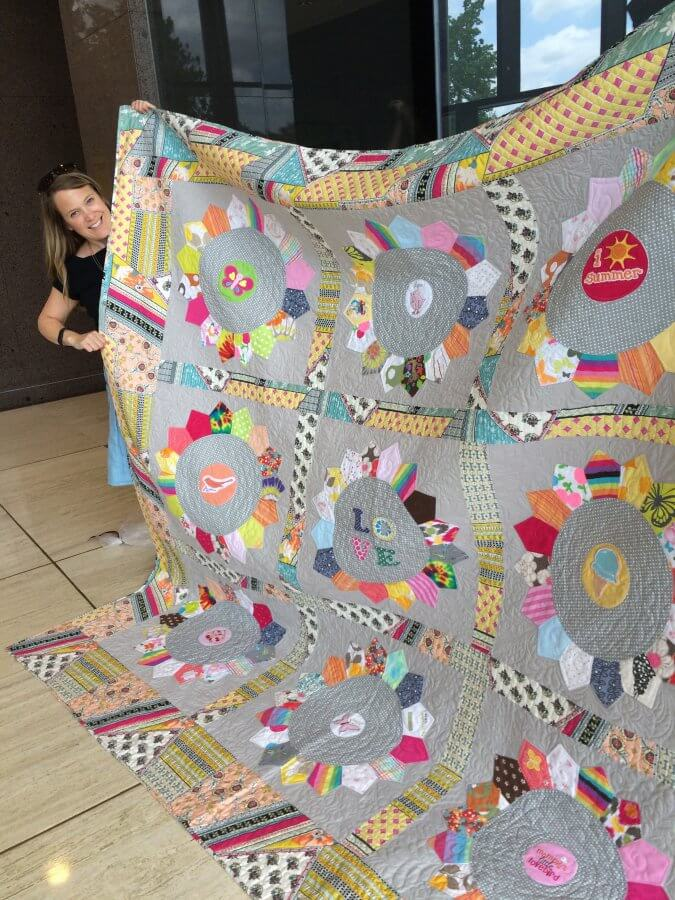 King Size Dresden made with baby clothes