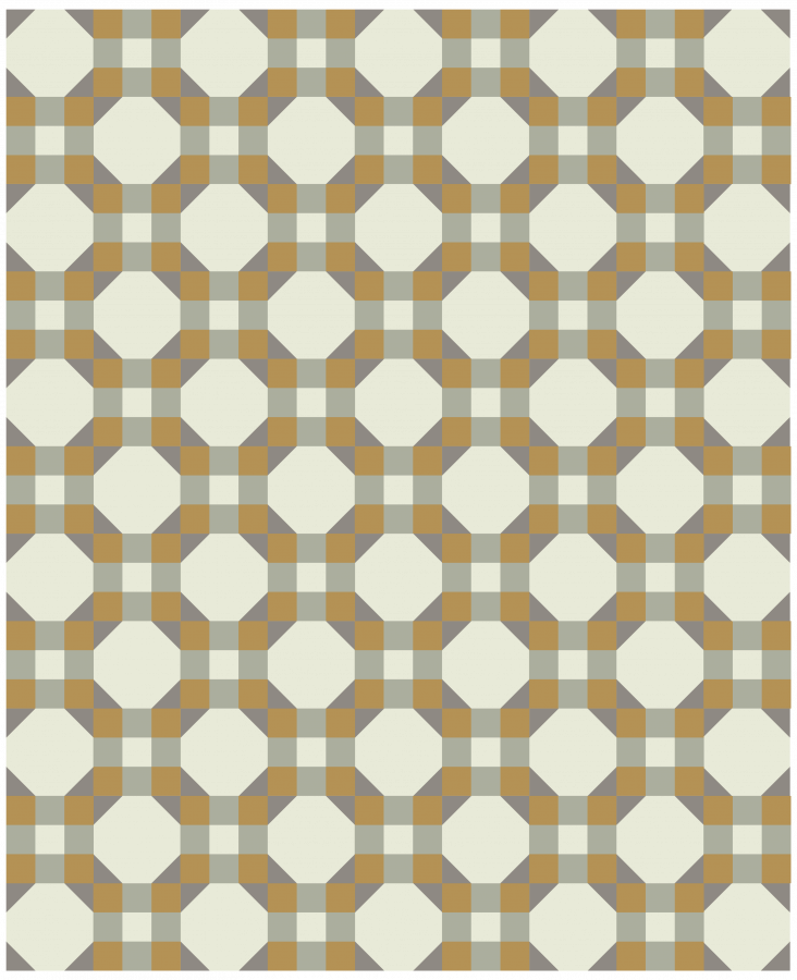 ILLUSTRATION of 9-patch snowball quilt using only 4 colors of fabric